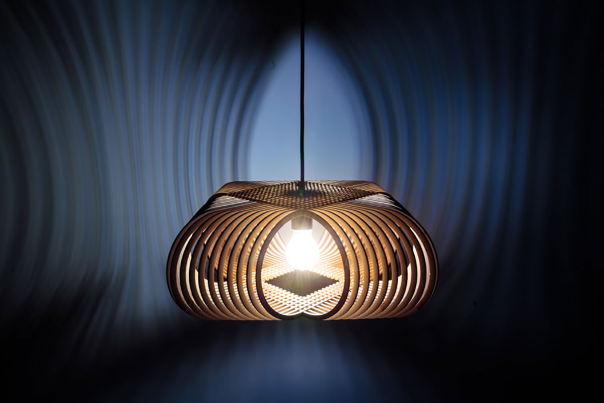 Oval lamp by Alex Groot (Object)