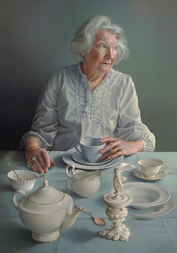 Scottish National Portrait Gallery: BP Portrait Award 2018. Miriam Escofet,An Angel At My Table , 2017