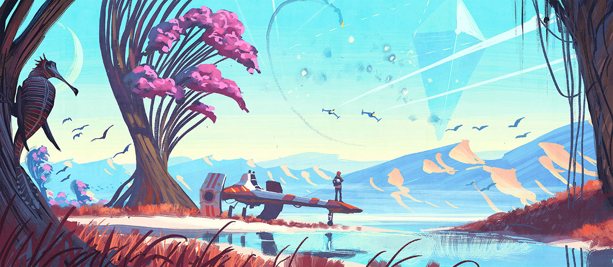 No Man's Sky - ™/© 2016 Hello Games Ltd. Developed by Hello Games Ltd. All rights reserved. Videogames: Design/Play/Disrupt, at the V&A from 8 September 2018 – 24 February 2019 vam.ac.uk/videogames
