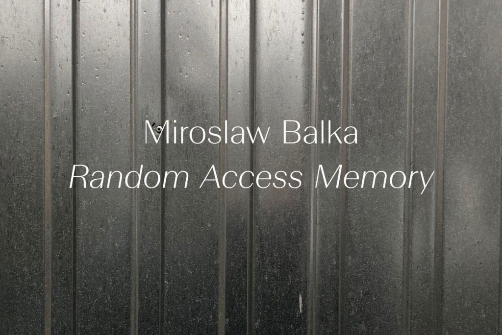 White Cube: Miroslaw Balka, Random Access Memory