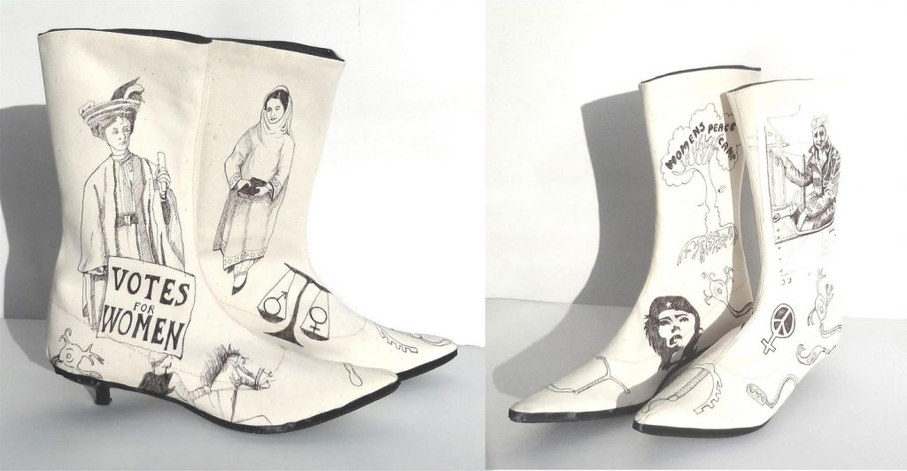 Mary Rouncefield: 'Campaign Boots'[Image - The Artists' Pool]
