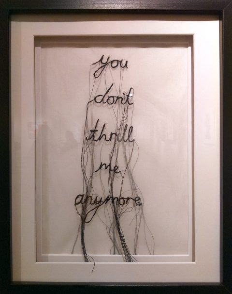 Laura T James: 'When My Thoughts Turn to Thread' (silk organza, freehand machine embroidery, thread)