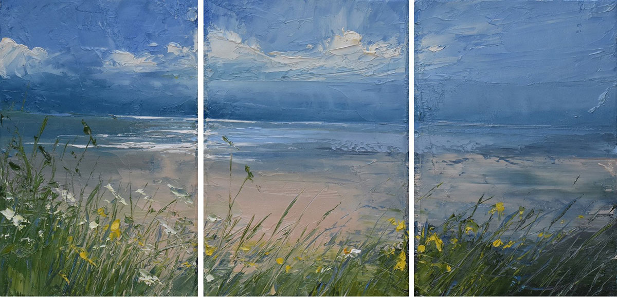Sproson Art Gallery, St Andrews: Spring Exhibition, Sea-salt breeze & floral infusion