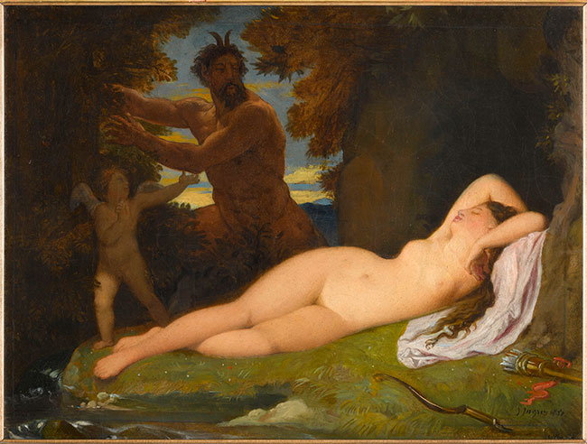Jean-Auguste-Dominique Ingres, 'Jupiter and Antope' (1851), courtesy Musée d'Orsay, Paris (Palazzo Reale)