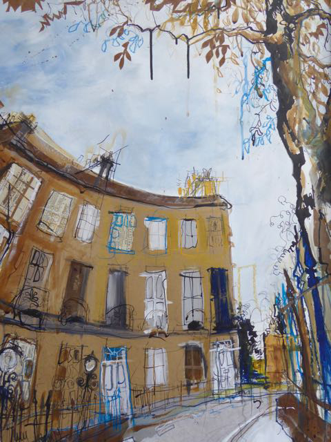 End of The Crescent' by Lucy Jones, mixed media and collage