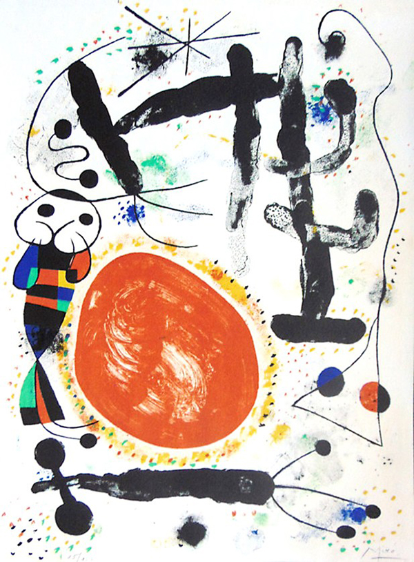 Joan Miro 'Day' ('Le Jour') Lithograph, 1953