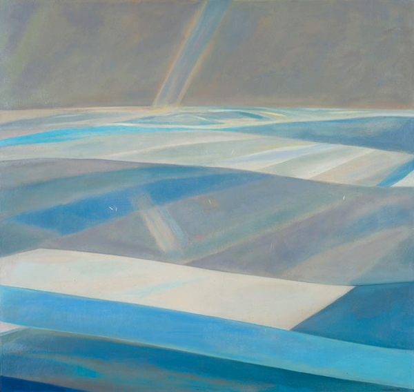 Landward Seawards, oil, 1973 (Image © John Busby Estate)
