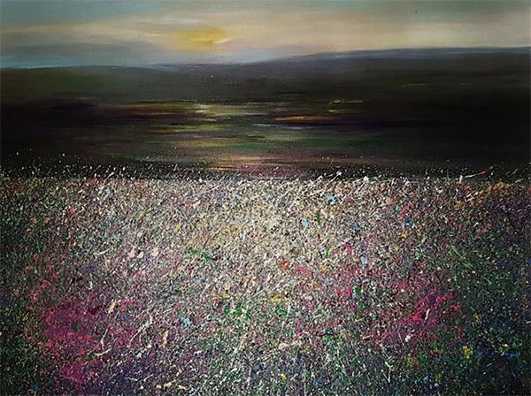 Shona Lenaghan Distant Blue Hills Acrylic