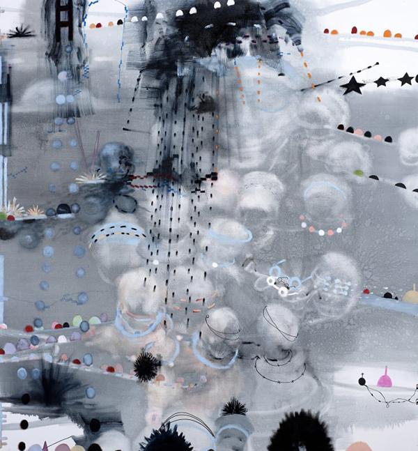 Virginia Verran: Grey:Bue (Lament), oil on canvas, 2018-19