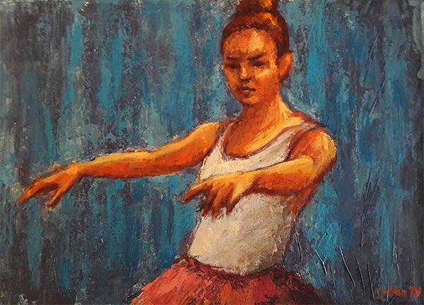Ballet 4 Study Damian Callan Medium- Oil on Canvas