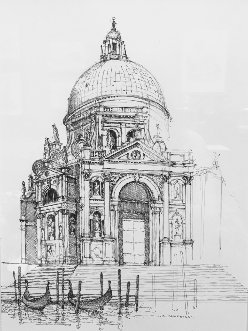 Ian Stuart Campbell, sketch from Architectural Tourist II