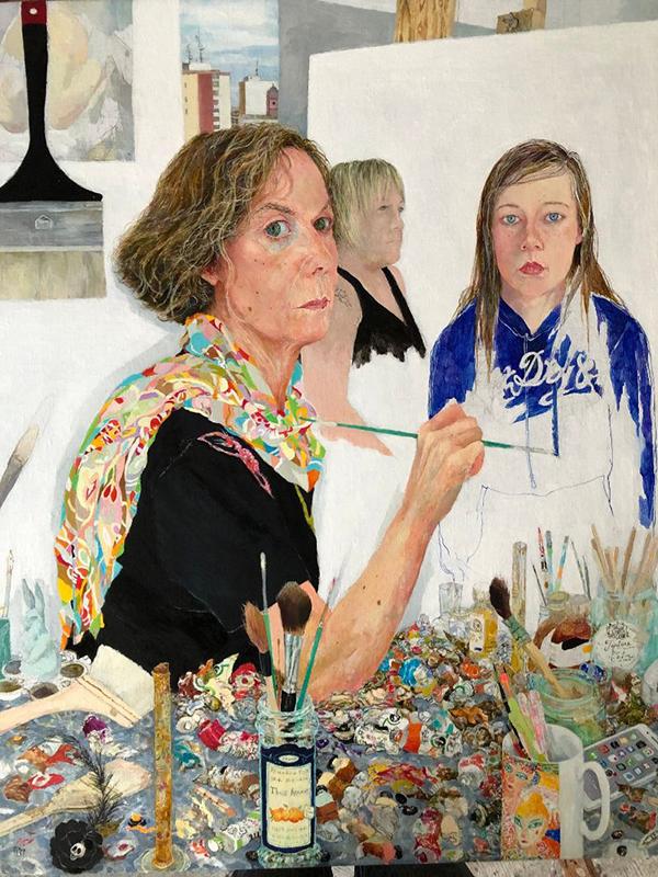 Jennifer McRae RSA, Past, present, future tracing the female line, 2018, oil on linen