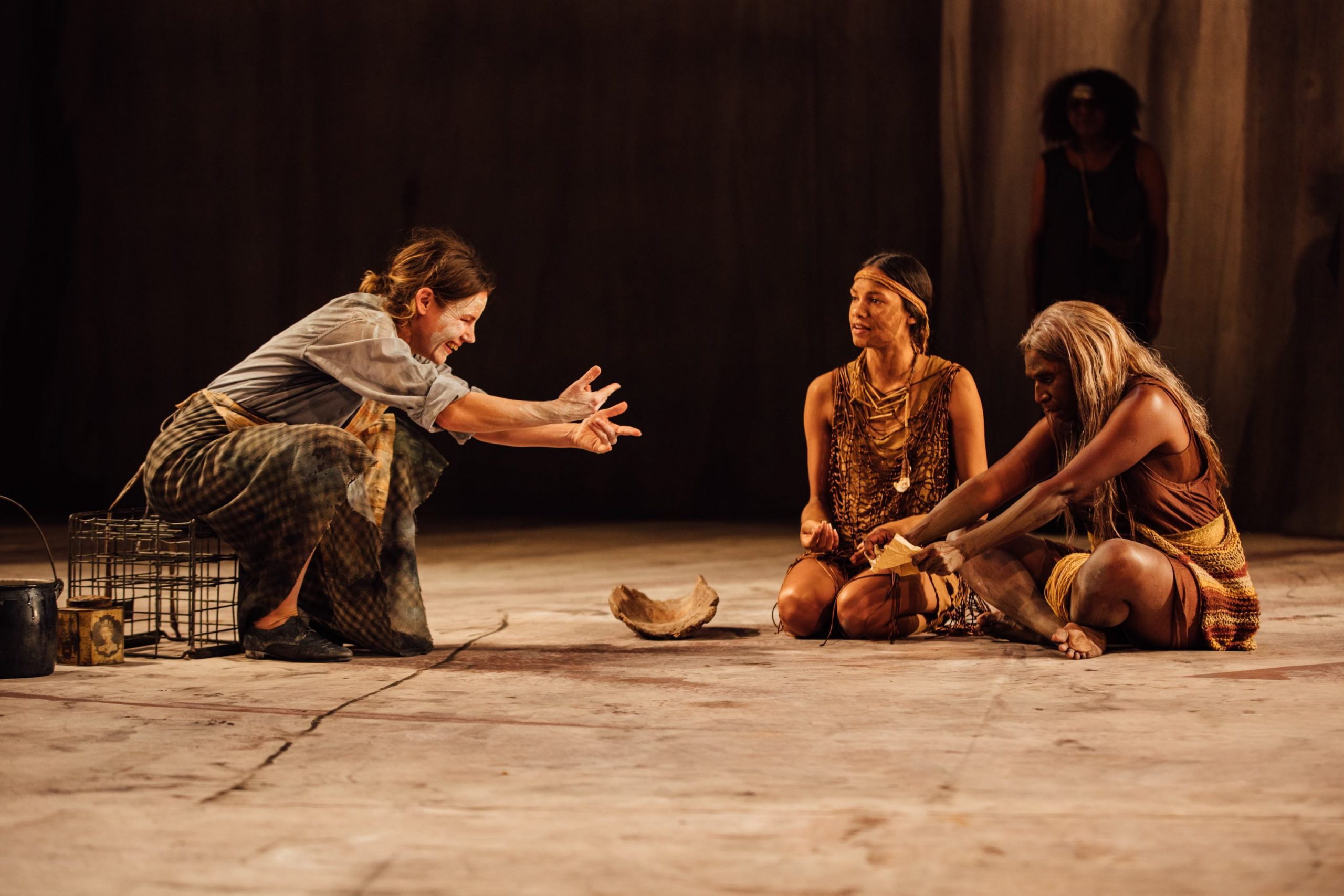 The Secret River at Edinburgh International Festival_L to R Georgia Adamson, Dubs Yunupingu and Elma Kris_Photo by Ryan Buchanan