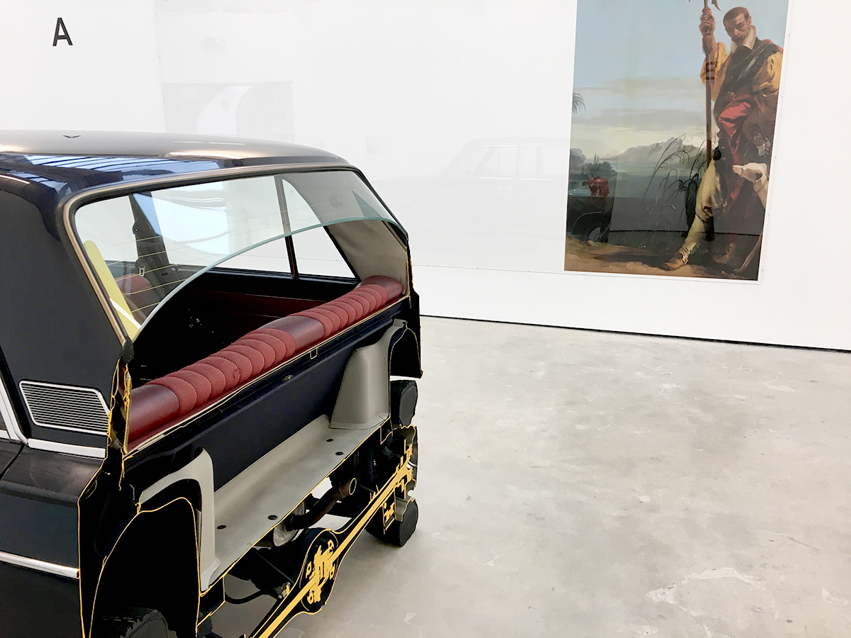 Truncated Fiat 125 Special with print of Tiepolo's Halberdier