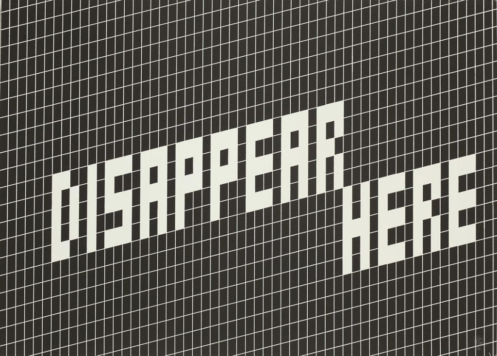 Martin Boyce, 'Disappear Here', screenprint