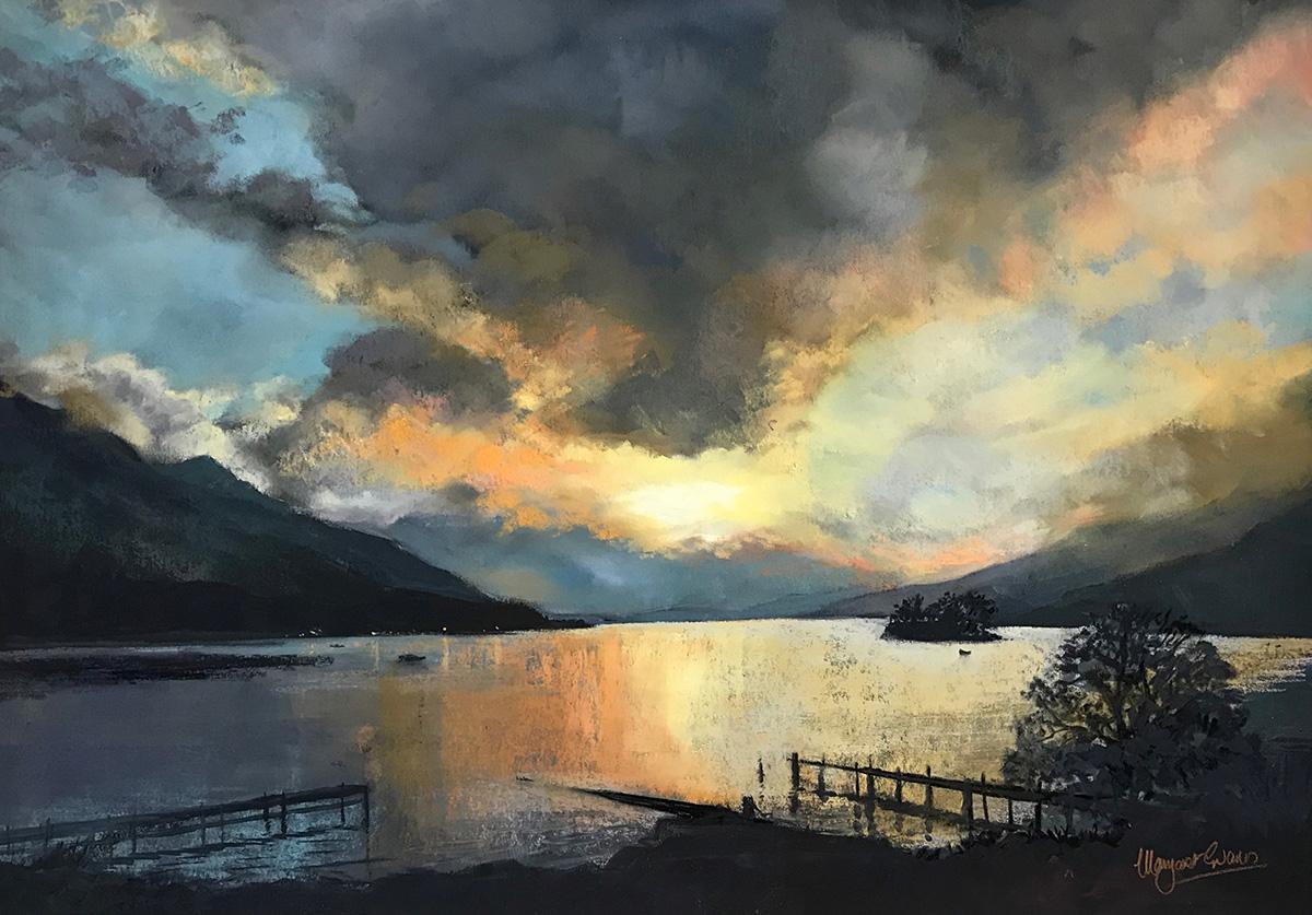 Margaret Evans, Old Jetties Loch Earn