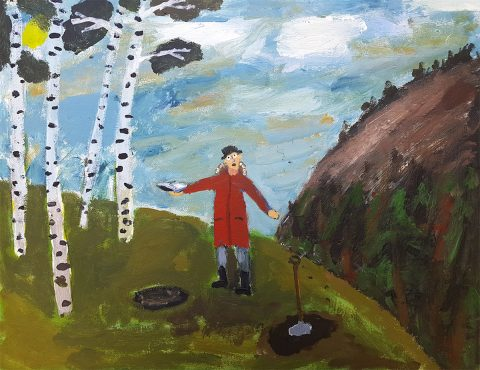 Aiden Milligan - Son of the Manse, acrylic on canvas