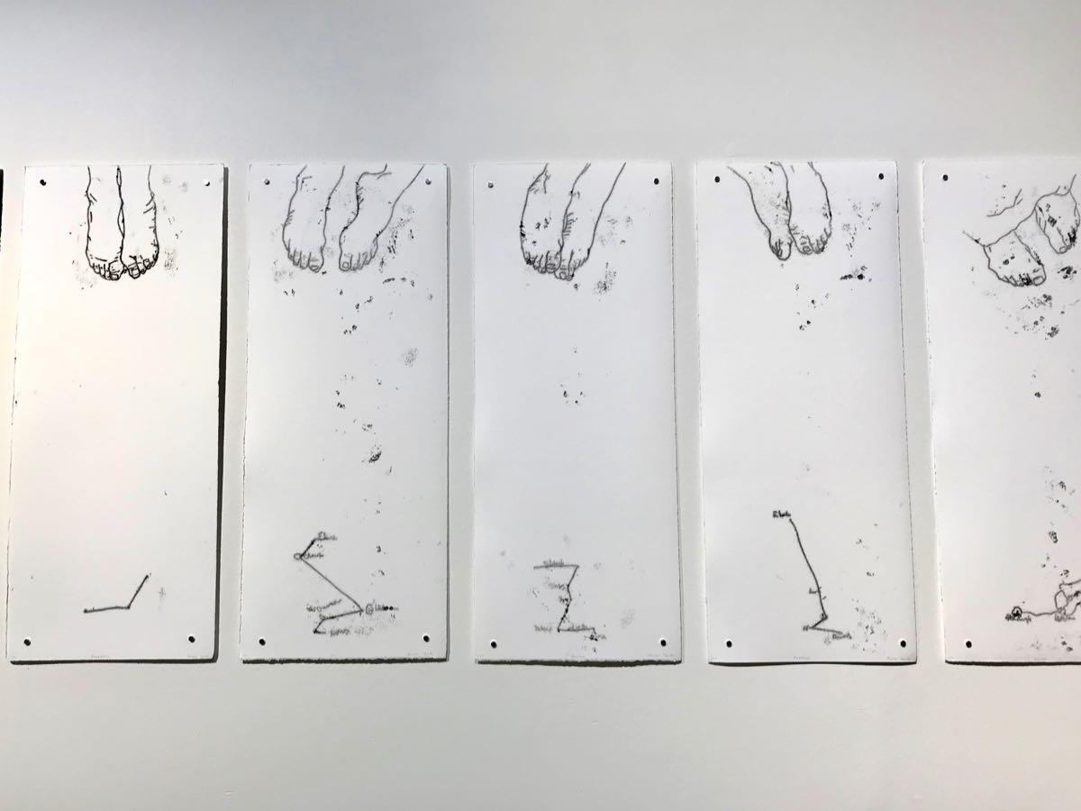 Anna York monoprints 2019