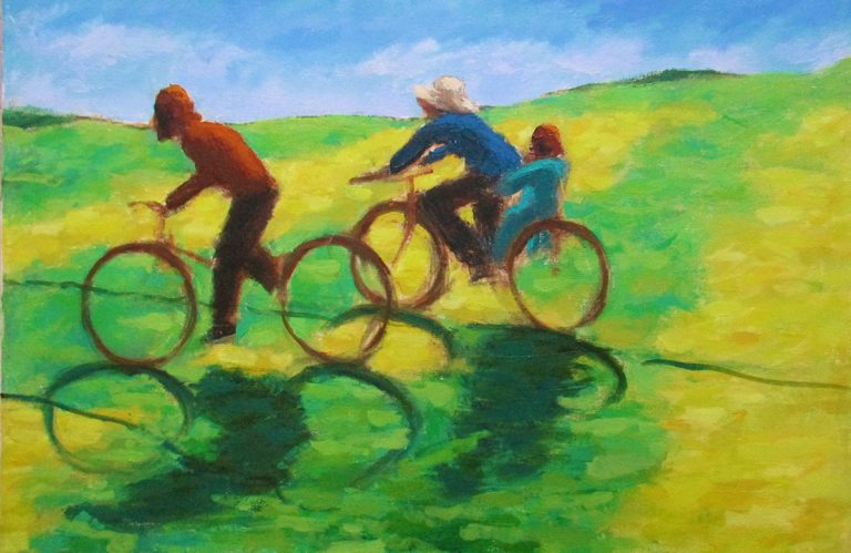 Damian Callan, 'Bicycle shadows