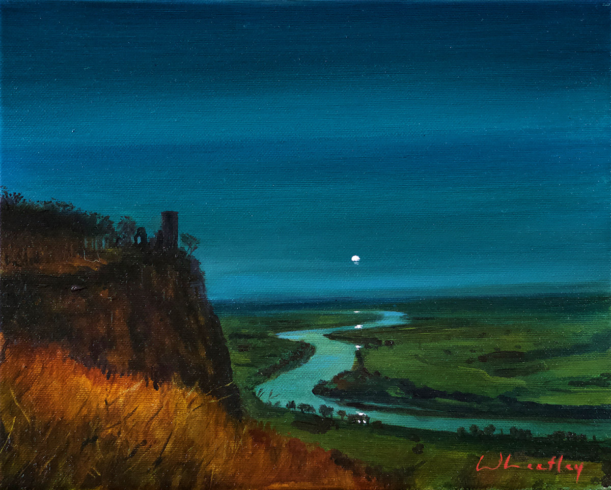 Nicole Wheatley: Kinnoull Tower, Moonrise. Kinnoull Hill, Kinnoull Hill, Perth