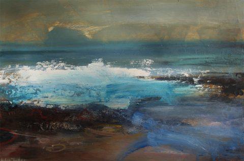 Helen Tabor - Bass Rock, Oil on Board