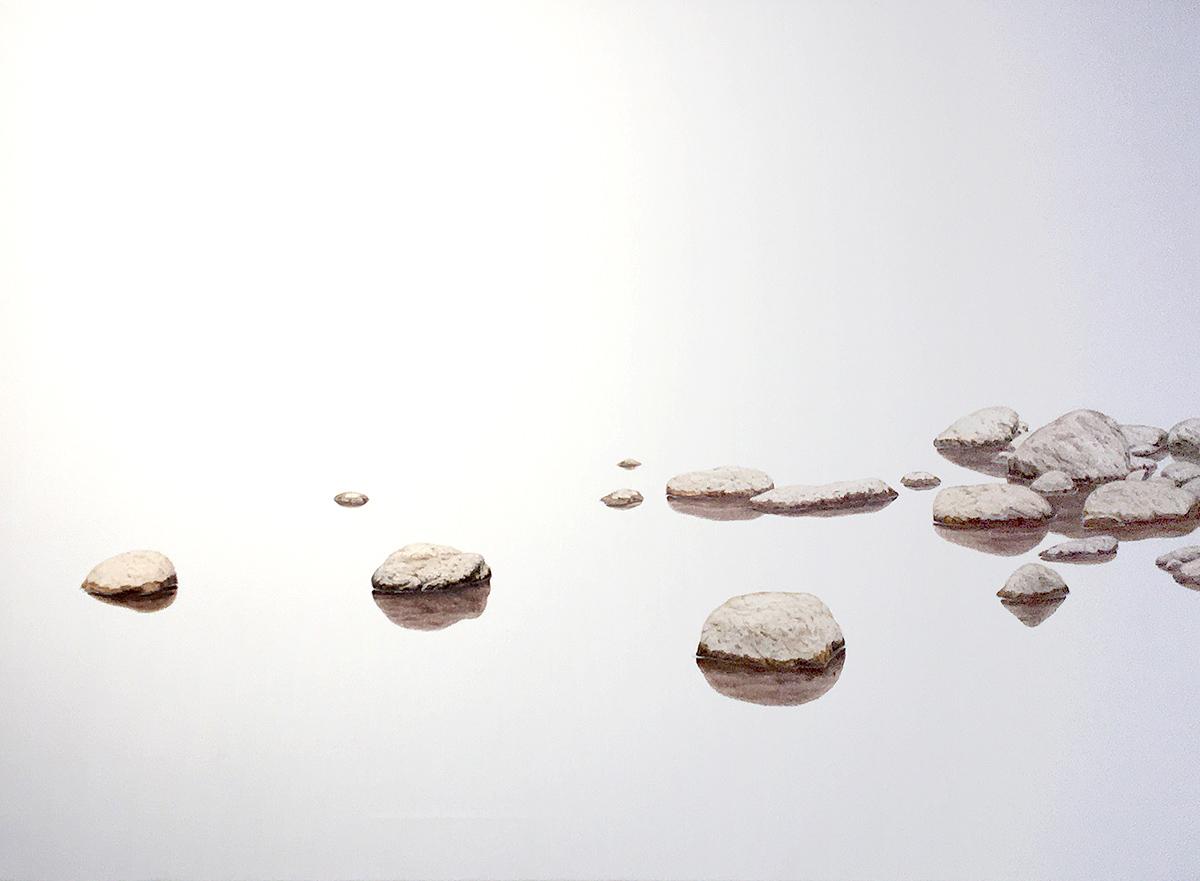 Kim Cheolseong - Decorum, oil on canvas