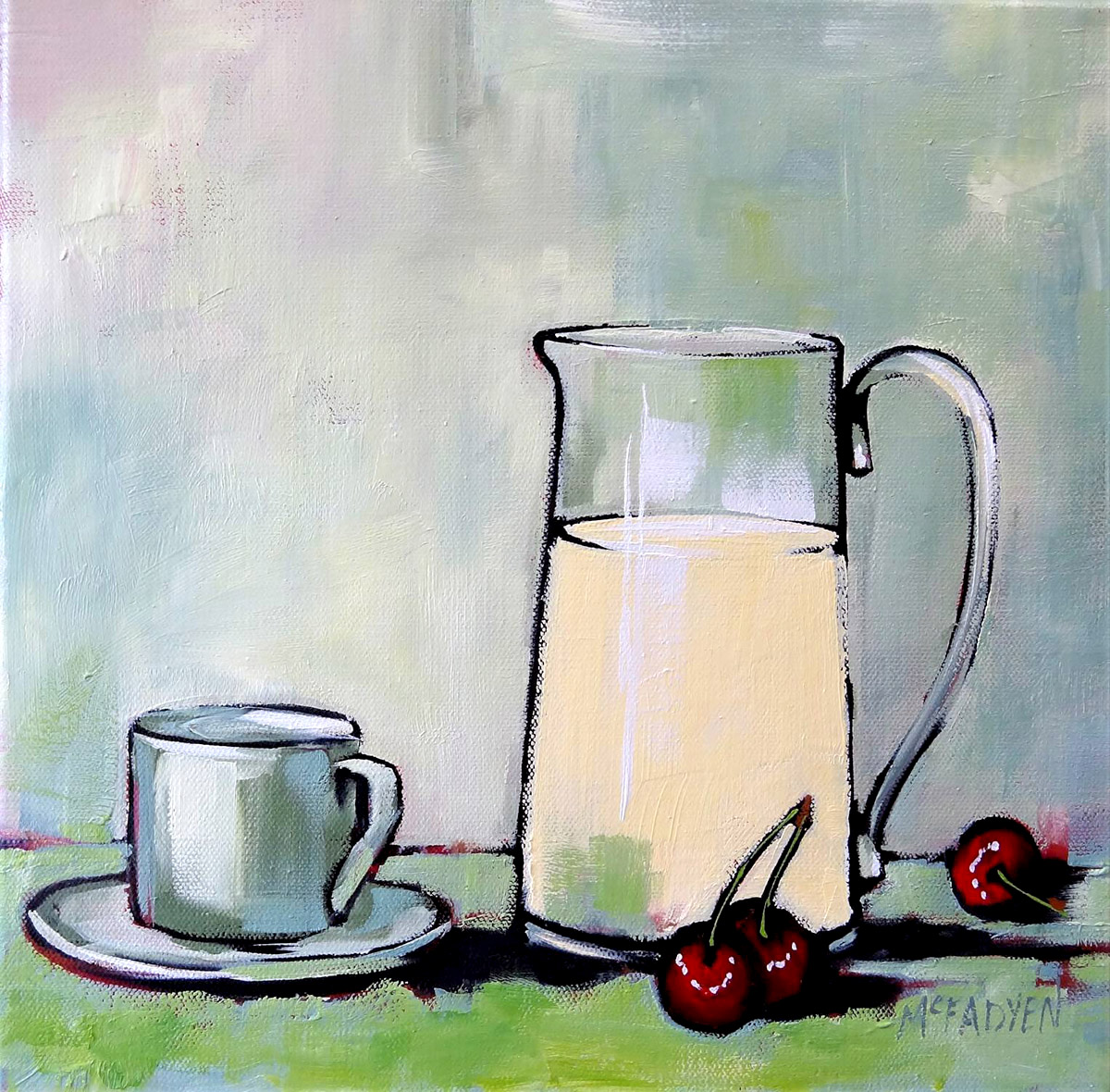Lex McFadyen - Cherries for Breakfast, Oils
