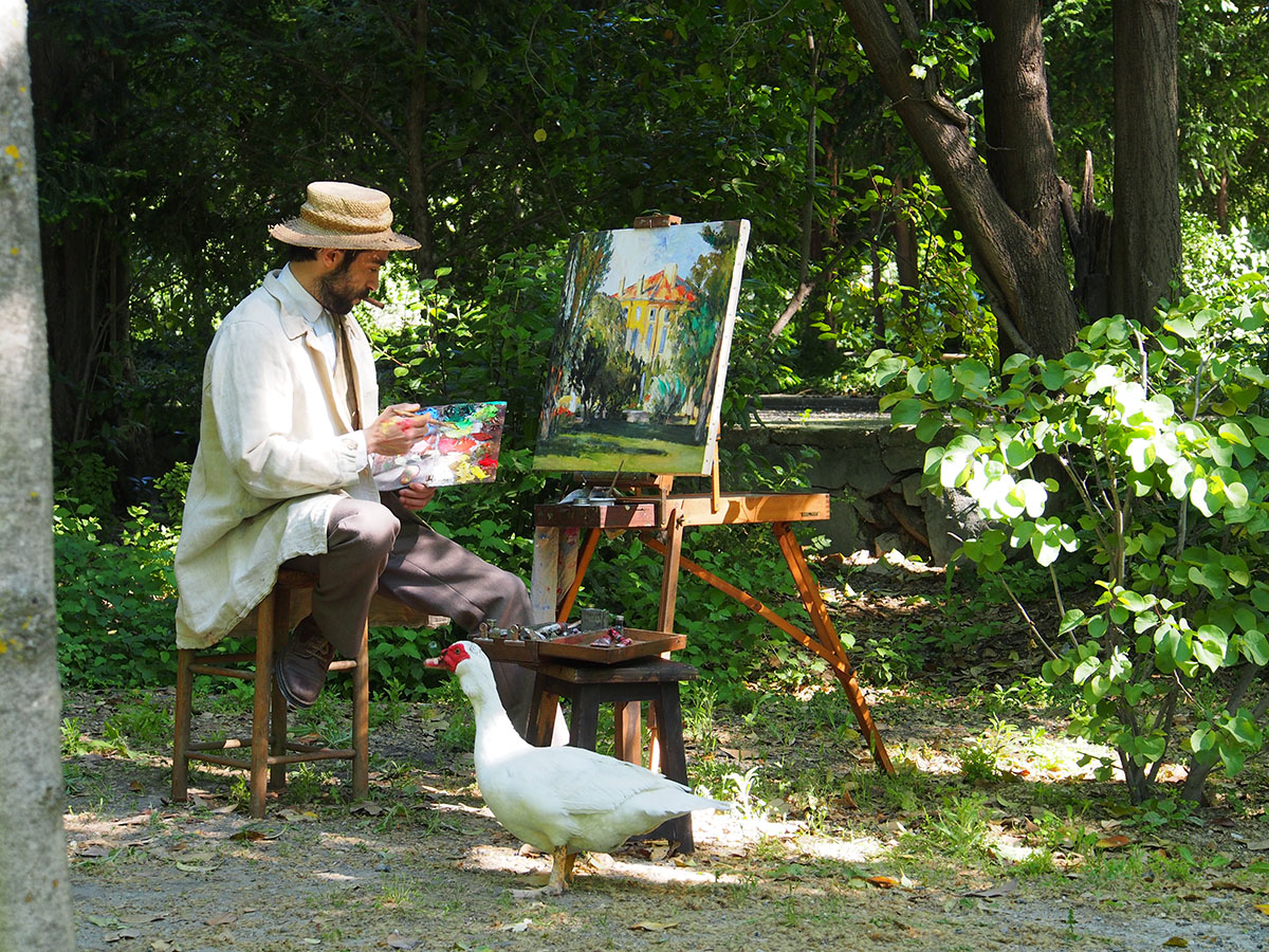 """A scene from the film """"Cezanne in the Aix region"""", screened to visitors at the Hotel de Caumont Centre d'Art"""