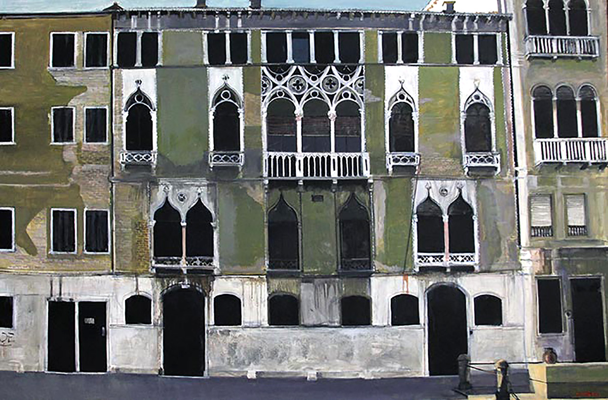 Alexandra Gardner - Venetian Facade, oil on canvas