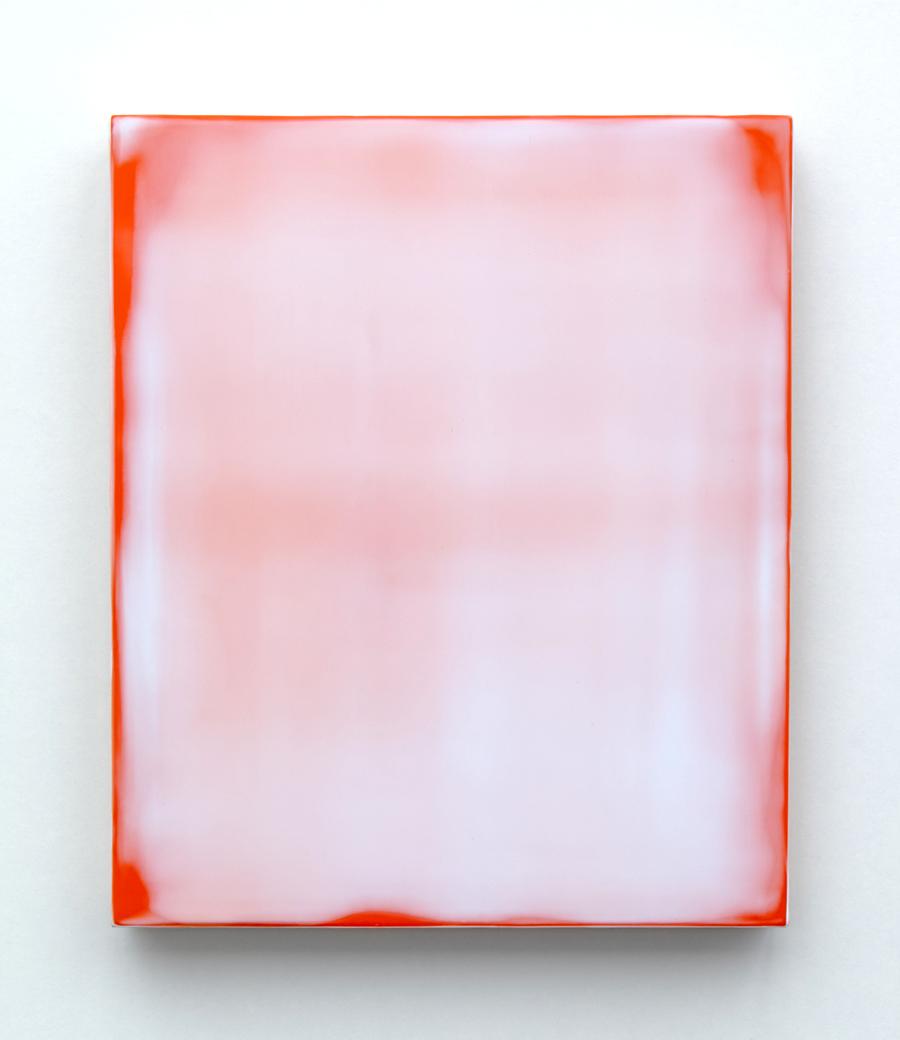 Michael Craik, Veil 2018_3, acrylic on wooden panel