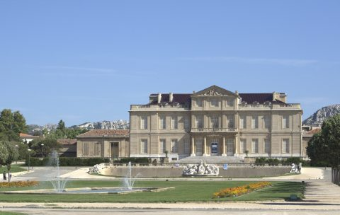 Chateau Borely houses the museums of decorative arts, earthenware and fashion.