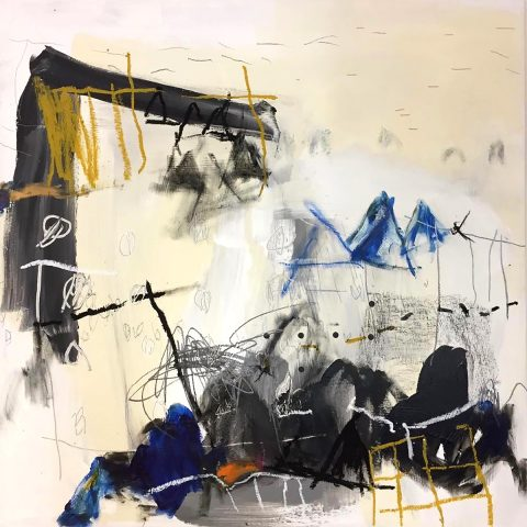 Rebecca Appleby: Coplanar 3, Mixed Media on Canvas