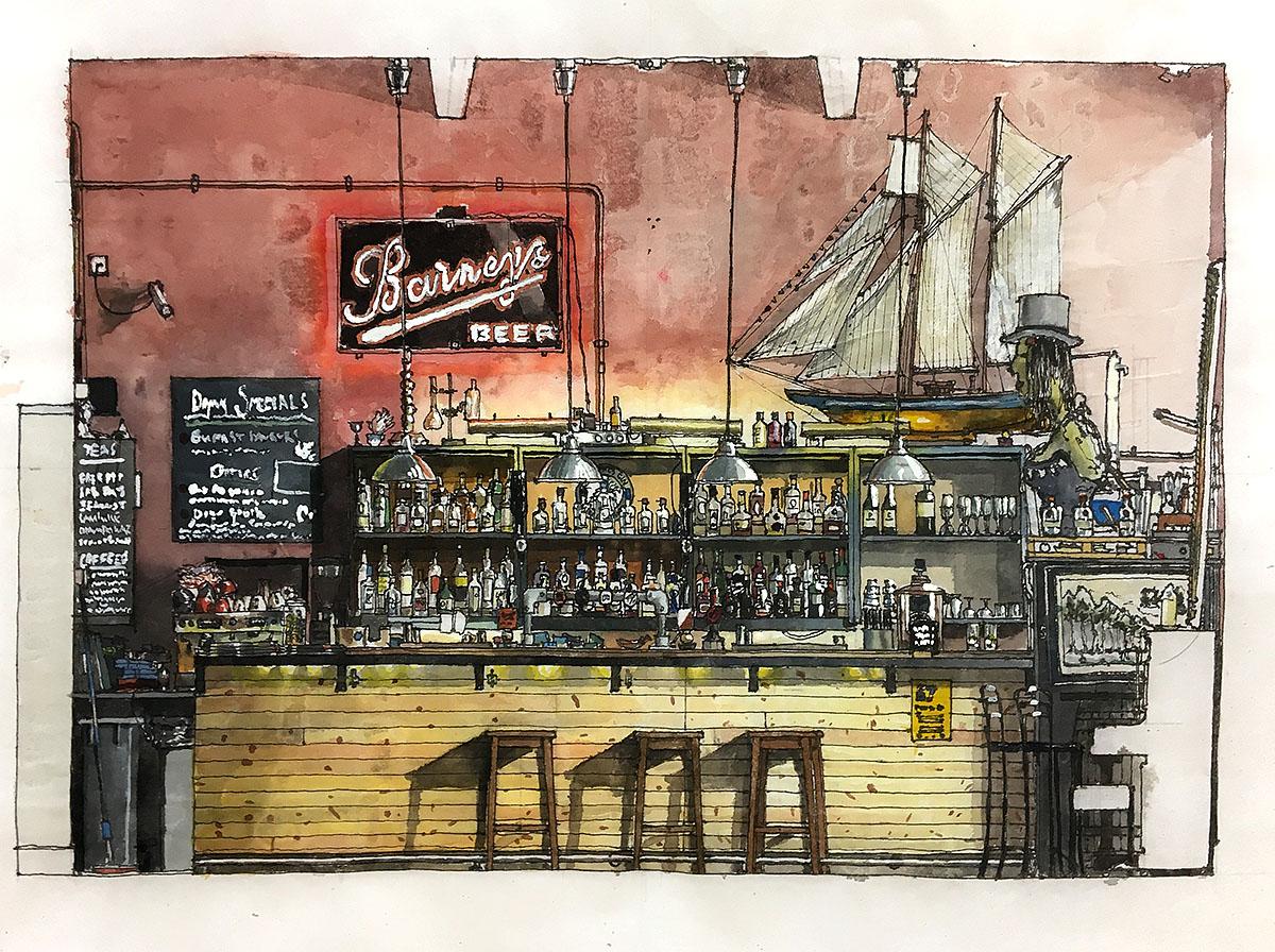 Royal Dick Bar, Section Drawing