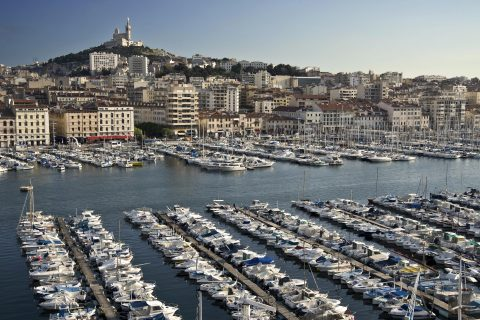 A sweeping balcony view from La Residence du Vieux Port Hotel