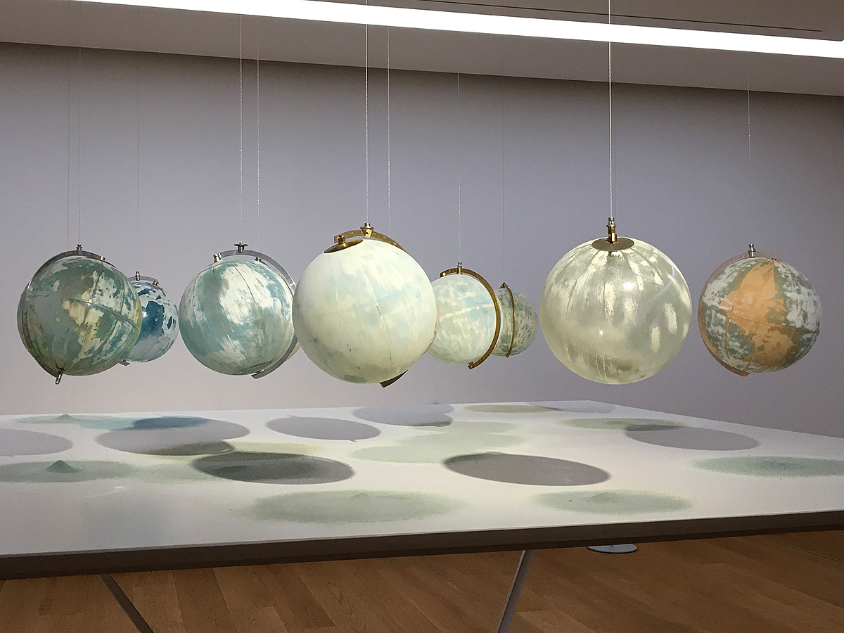 Julian Charriere - We Are All Astronauts, glass, plastic, paper, wood