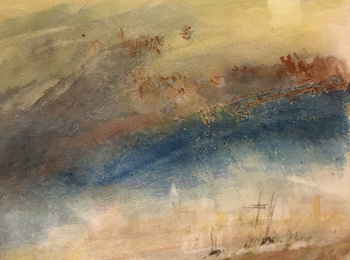 J M W Turner - Venice from the Laguna (Detail)