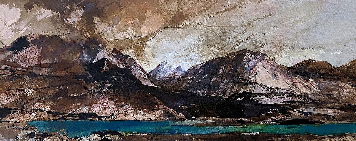 Tom Shanks - loch nevis, watercolour