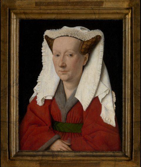 Jan van Eyck, 'Portrait of Margareta Van Eyck', 1439 (Musea Brugge), Photo: Hugo Maertens