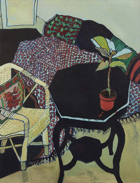 Christine McArthur RGI, RSW - The Wicker Chair, oil on canvas