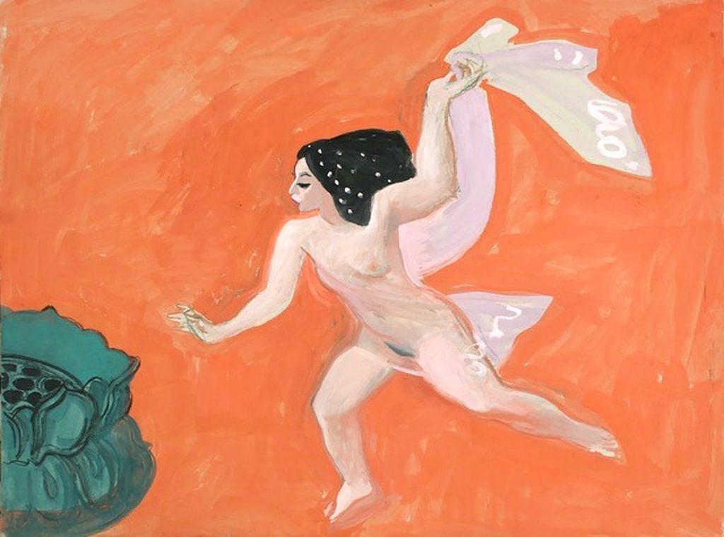 Alexander Goudie - Salome's Last Veil, gouache on board