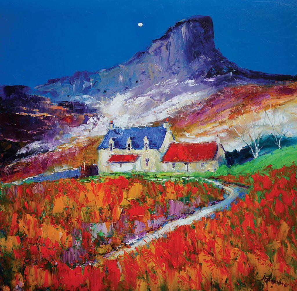 John Lowrie Morrison - Misty Autumn Evening Light The Sgurr Isle of Eigg