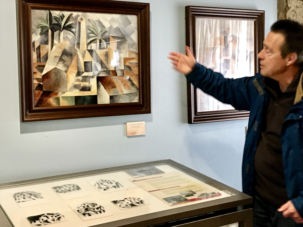 Reproductions of the first cubist works at the Picasso Centre, Horta San Joan