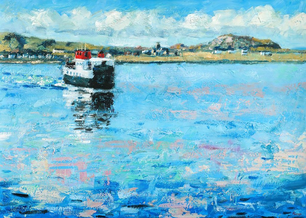 James Potter - The Ferry From Iona, oil on board