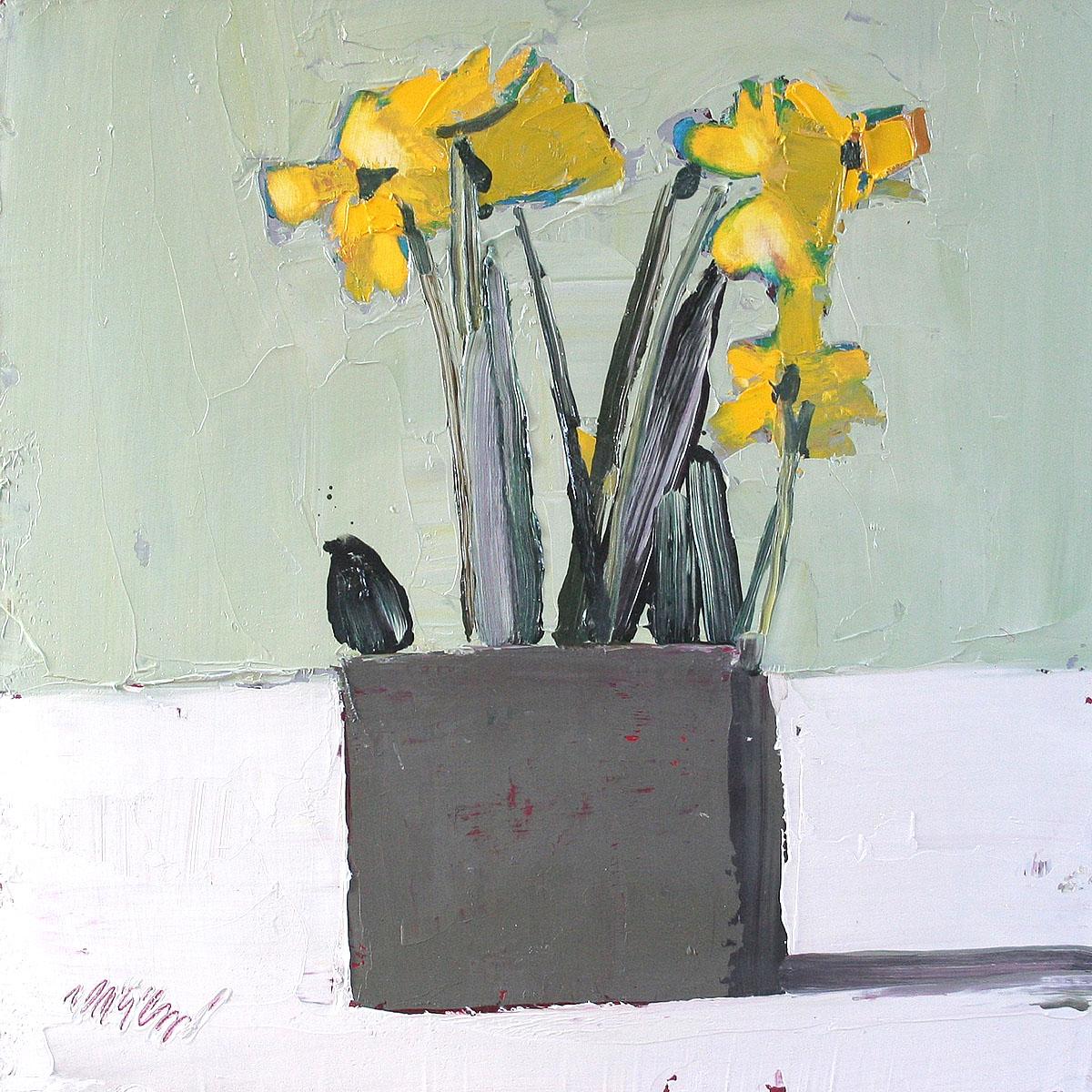 Mhairi McGregor - Daffodils, oil - Daffodils