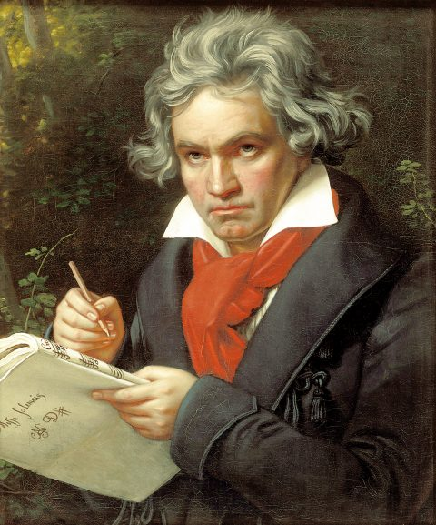 Joseph Stieler's iconic portrait of Beethoven (1820)