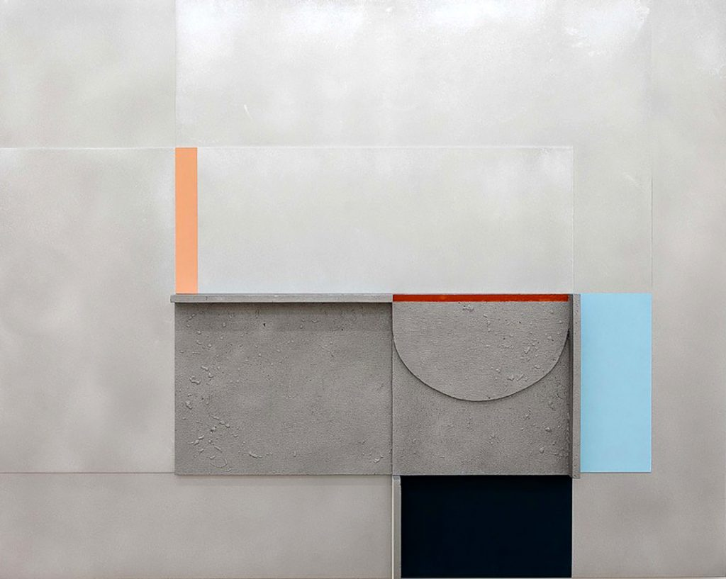 Cagliari, acrylic on cast and sheet aluminium