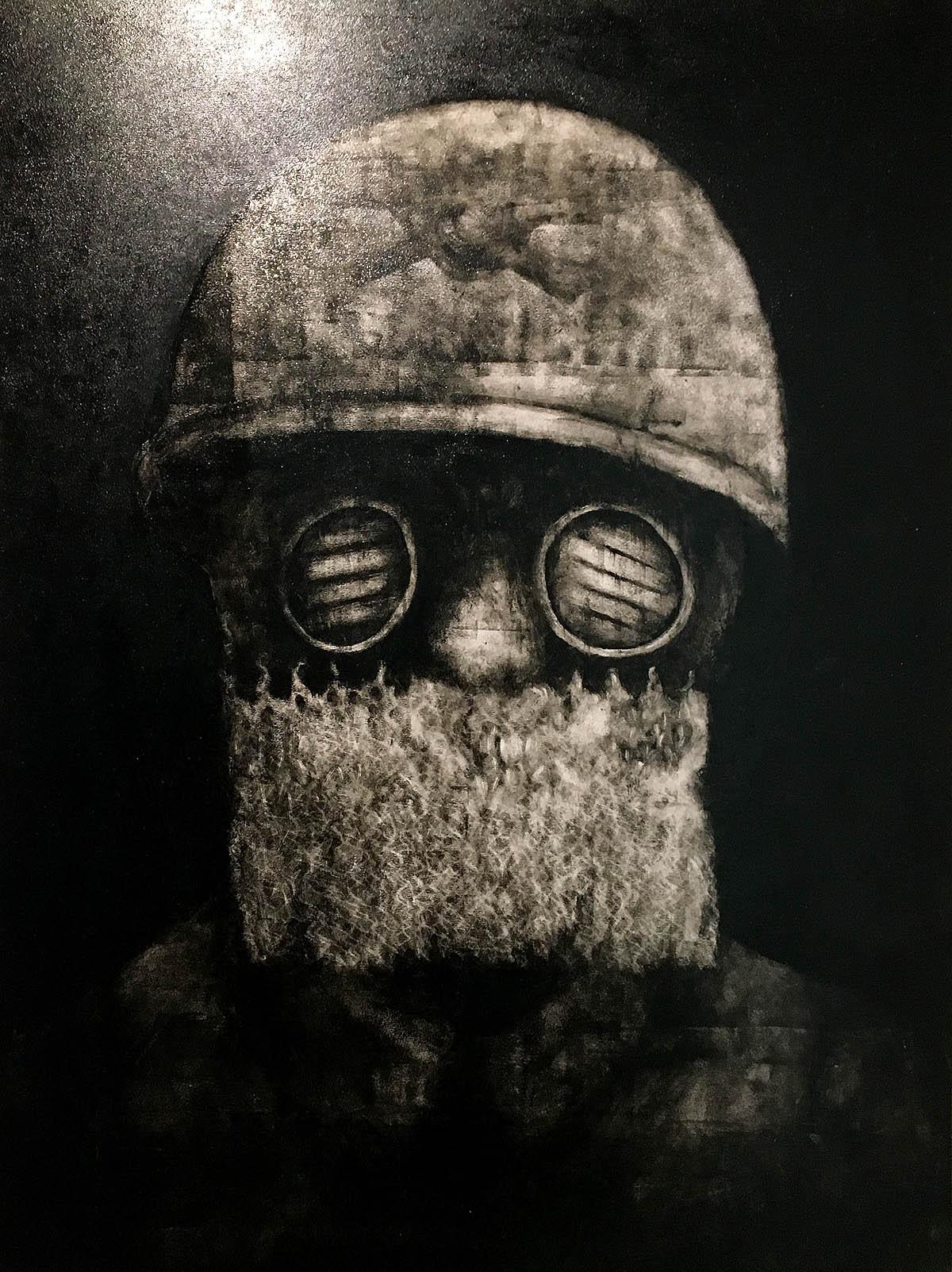 Veil of Despair, oil on panel