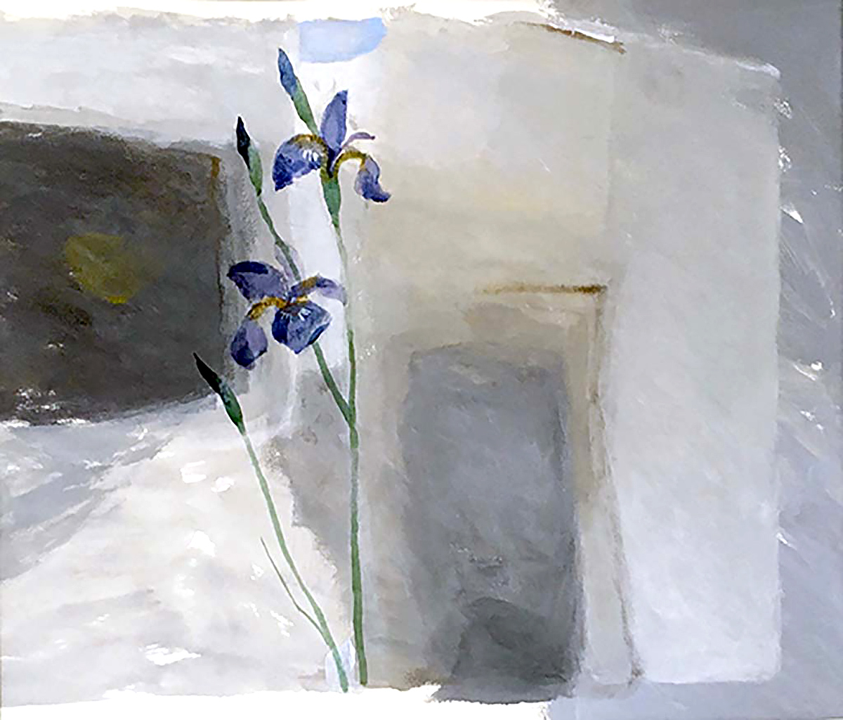 Ian Kinnear - Iris, acrylic on paper