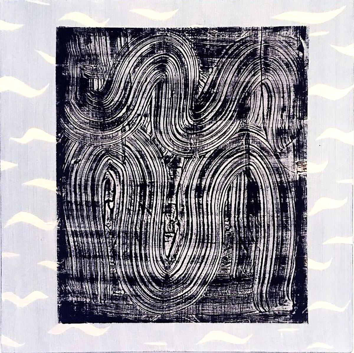 Charlotte Roseberry - Dark Wave, oil on panel