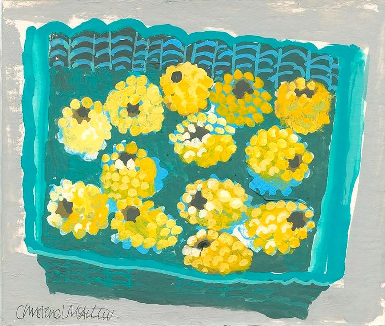 Christine McArthur - Yellow Raspberries, acrylic